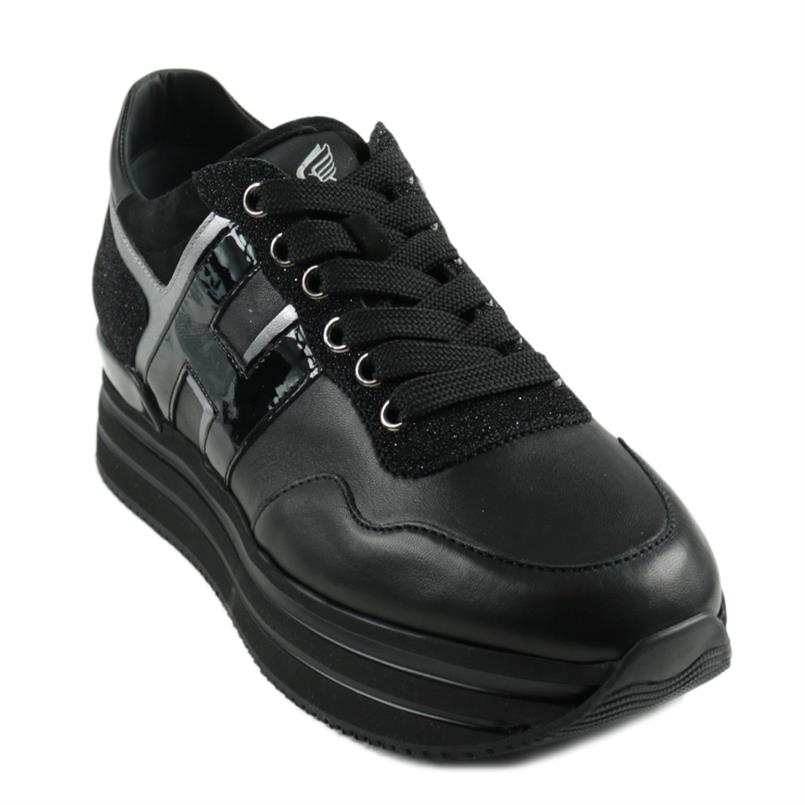 HOGAN sneakers midi h222 zwart