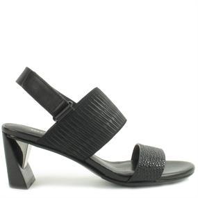 Rico Sandales Uni Femmes Nues - Noir (noir), Taille: 37